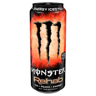 Monster Energy Rehab Iced Tea Non-Carbonated Hypotonic Drink with Sugar and Sweeteners 500 ml