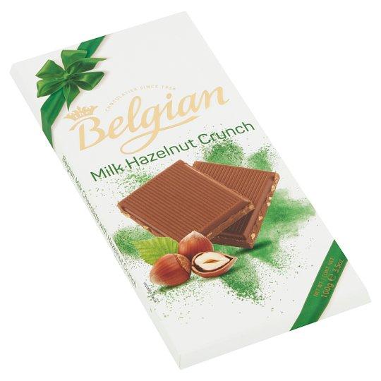 Belgian táblás tejcsokoládé ropogós mogyoróval 100 g