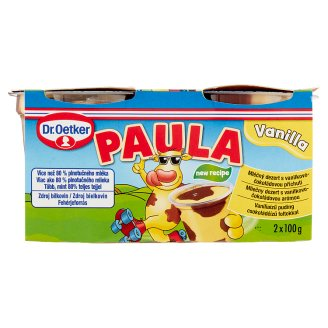 Dr. Oetker Paula Vanilla Flavoured  Pudding with Chocolate Flavoured Pudding 2 x 100 g