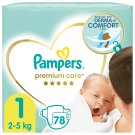 Pampers Premium Care Size 1, Nappy x78, 2kg-5kg