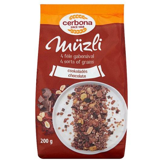 Cerbona Muesli with Chocolate 200 g