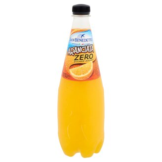 San Benedetto Zero Aranciata Sugar-Free Carbonated Drink with Sweeteners and Orange Juice 0,75 l