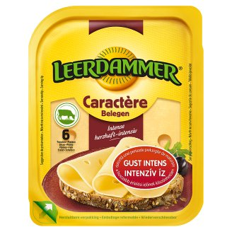 Leerdammer Caractère zsíros, félkemény, szeletelt sajt 125 g