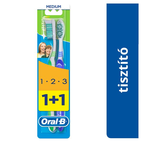Oral-B 3 Effect Medium Manuális Fogkefe, 2 Db