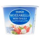 Tesco Semi-Fat, Soft Mini Mozzarella Cheese in Salted Brine 125 g