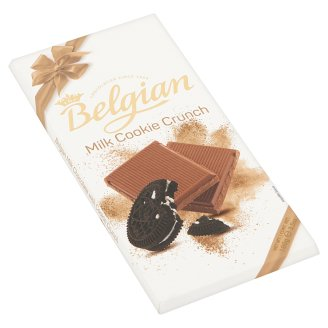 Belgian Milk Chocolate Bar with Cookie Crunch 100 g