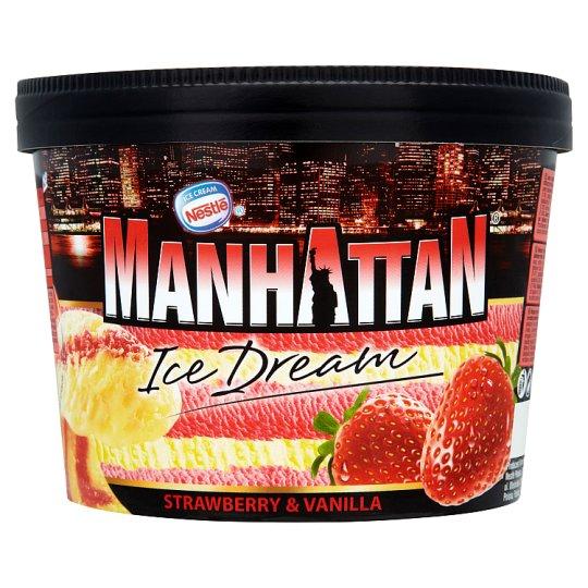 Nestlé Manhattan vaníliás és epres jégkrém 1400 ml