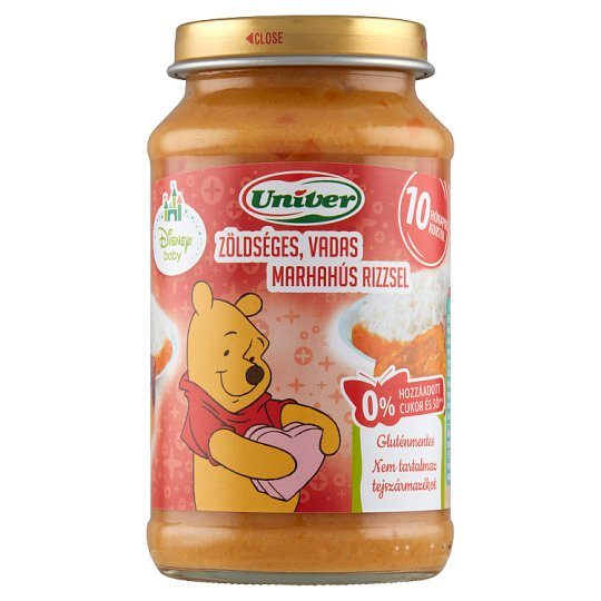 Univer Vegetable Wild Beef with Rice Food for Babies 10+ Months 220 g