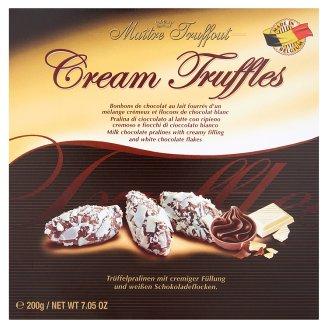 Maître Truffout tejcsokoládés praliné krémes töltelékkel és fehér csokoládédarabokkal 200 g