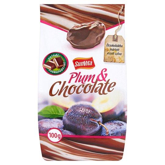 Sunvita Dried Plum in Dark Chocolate Coating 100 g