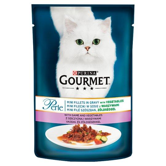 Gourmet Perle teljes értékű állateledel felnőtt macskák számára vaddal és zöldségekkel 85 g