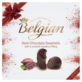 Belgian Dark Seashells belga töltött csokoládé praliné 250 g