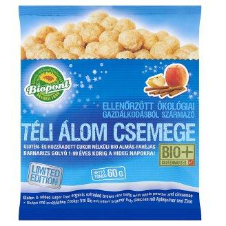 Biopont Téli Álom Csemege glutén- és hozzáadott cukor nélküli BIO almás-fahéjas barnarizs golyó 60 g