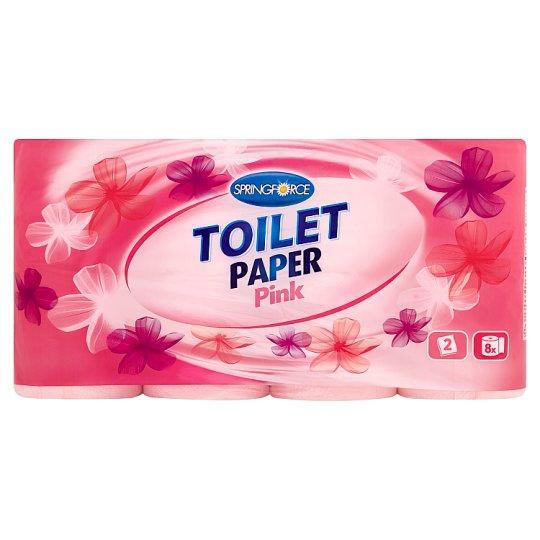 Springforce Pink toalett papír 2 rétegű 8 tekercs