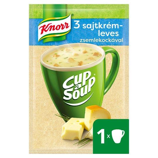 Knorr Cup a Soup 3 sajtkrémleves zsemlekockával 17 g