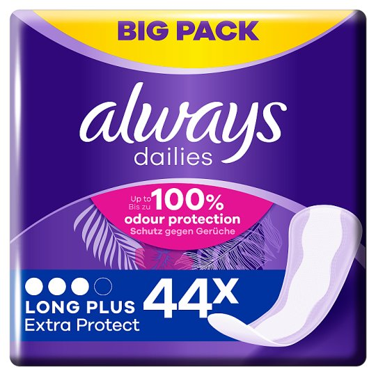 Always Dailies Extra Protect Panty Liners Long Plus 44 X