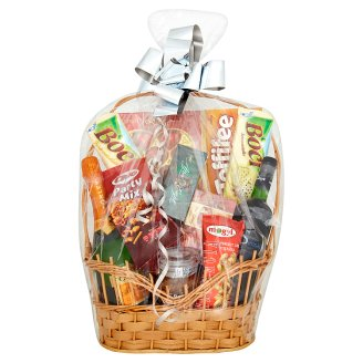 Big Silver Gift Basket