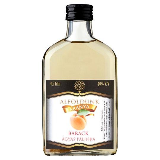 Alföldünk Aranya Peach Palinka on Fruit Bed 40% 0,2 l