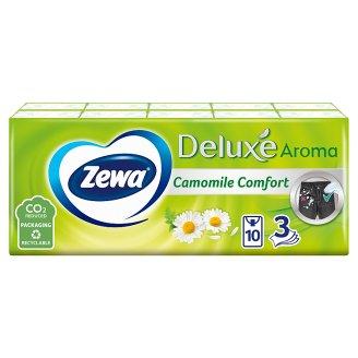 Zewa Deluxe Camomile Comfort Scented Handkerchiefs 3 Ply 10 x 10 pcs