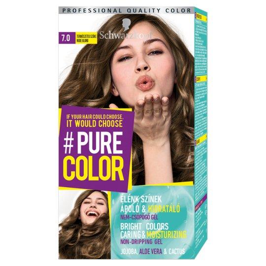 Schwarzkopf #Pure Color tartós hajfesték 7.0 Természetes szőke