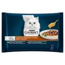 Gourmet Perle Gravy Delight állateledel macskáknak csirkével és marhával szószban 4 x 85 g