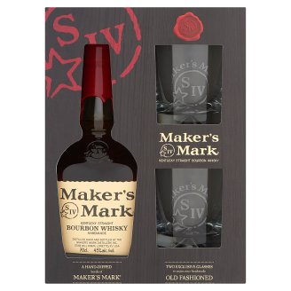 Maker's Mark Bourbon whiskey 45% 0,7 l + 2 pohár