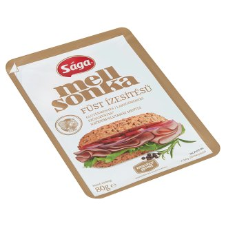 Sága Royal Sliced Smoked Flavoured Turkey Breast Ham 80 g