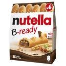 Nutella B-ready ropogós ostya kakaós mogyorókrémmel és búzakészítménnyel töltve 6 x 22 g