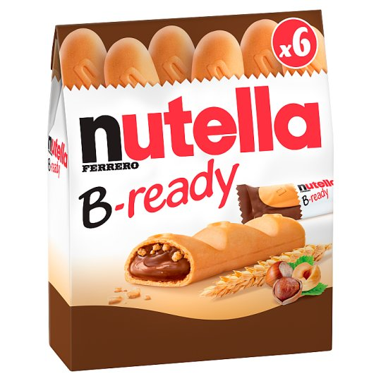 Nutella B-ready Crispy Wafer Filled with Cocoa Flavoured Hazelnut Spread and Wheat Product 6 x 22 g