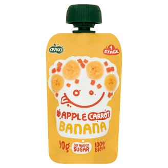 Ovko Organic Apple Carrot Banana Dessert for Babies 6+ Months 90 g