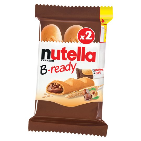 Nutella B-ready Crispy Wafer Filled with Cocoa Flavoured Hazelnut Spread and Wheat Product 2 x 22 g