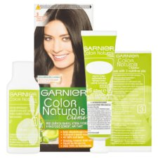 image 2 of Garnier Color Naturals Crème 3 Dark Brown Nourishing Permanent Hair Colorant