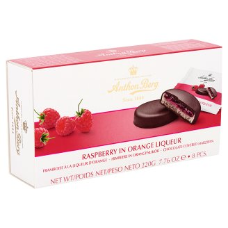 Anthon Berg Chocolate with Marzipan and Filling with Raspberry in Orange Liqueur 8 pcs 220 g