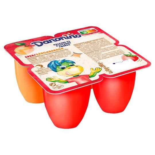 Danone Danonino epres és sárgabarackos tejtermék hozzáadott kalciummal és D-vitaminnal 4 x 50 g