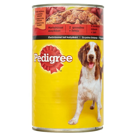 Pedigree Complete Pet Food for Adult Dogs with Beef in Jelly 1200 g