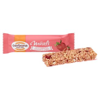 image 2 of Cerbona Strawberry-Yoghurt Cereal Bar with Sugar and Sweetener in Strawberry Coating 20 g