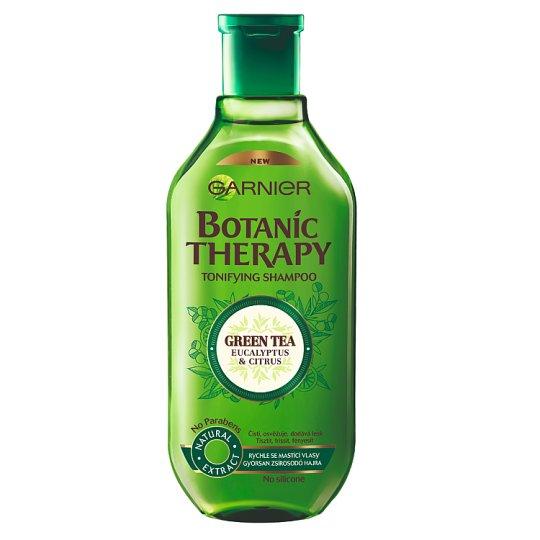 Garnier Botanic Therapy Green Tea Eucalyptus & Citrus sampon gyorsan zsírosodó hajra 400 ml