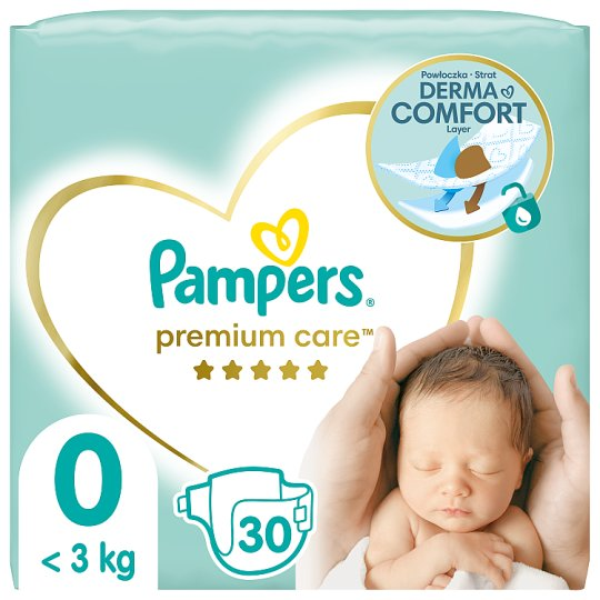 Pampers Premium Care Size 0, Nappy x30, <3kg