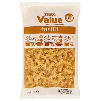 Tesco Value Fusilli Dried Pasta without Egg 500 g