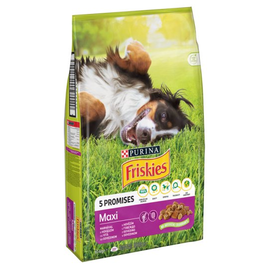 Friskies Vitafit Maxi Complete Pet Food for Adult Dogs with Beef 10 kg