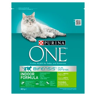 Purina One Indoor Formula Dry Cat Food Rich in Turkey and Whole Grains 800 g