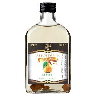 Alföldünk Aranya Pear Palinka on Fruit Bed 40% 0,2 l