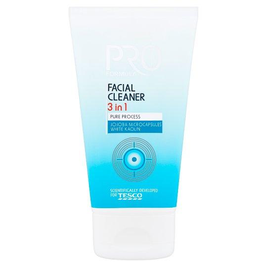 Tesco Pro Formula 3 az 1-ben tisztító-, hámlasztógél és hidratáló maszk zsíros bőrre 150 ml
