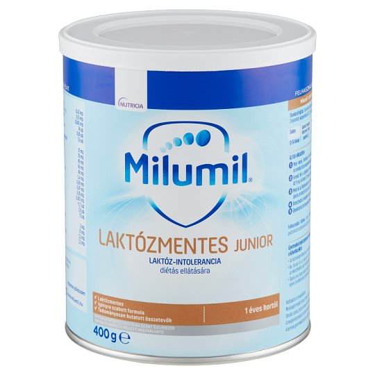 Milumil Junior Lactose-Free Special Formula for Lactose-Intolerance Dietetic Care 1+ Year 400 g