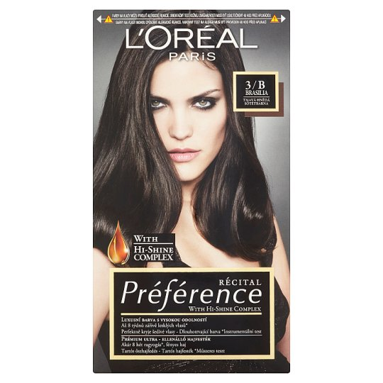 image 1 of L'Oréal Paris Préférence 3/B Brasilia Dark Brown Premium Ultra-Resistant Colorant