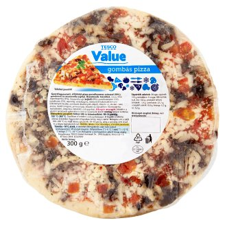 Tesco Value Quick-Frozen Pizza with Mushroom 300 g