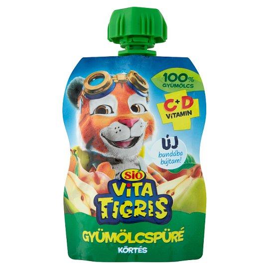 Sió Vitatigris alma alapú vegyes gyümölcskészítmény körte pürével 90 g