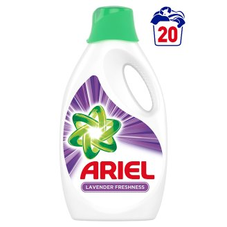 Ariel Washing Liquid With Lavender Freshness 1.1 l, 20 Washes, Brilliant Cleaning & Long-Lasting Scent