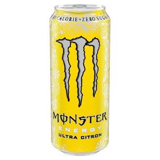 Monster Energy Ultra Citron szénsavas ital édesítőszerekkel 500 ml