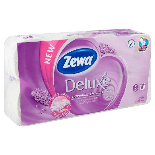 Zewa Deluxe Lavender Dreams toalettpapír 3 rétegű 8 tekercs